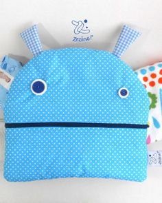 Blue dots monster pajama nappy bags! From Zezling!
