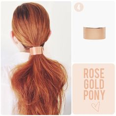 thick rose gold ponytail barrette