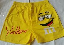 M&M's Yellow I'm the nutty one Men's Boxer Shorts Size S NWT
