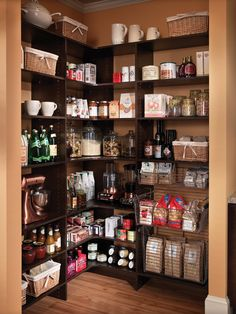 Pantry with lots of shelves