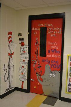 My Dr. Seuss themed Teacher Appreciation Door