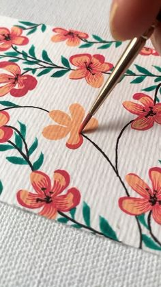 Gouache Painting, Painting & Drawing, Diy Painting, Easy Flowers To Paint, Drawings Of Flowers, Simple Flower Painting, Easy Things To Paint, How To Paint Flowers, Painting Flowers Tutorial