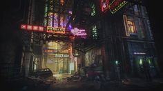 Hey guys, This is my submission for the Beyond Human challenge. I want to thank Helio Frazao for providing us with this awesome concept art. Cyberpunk City, Cyberpunk Games, Futuristic City, Cyberpunk Aesthetic, Game Environment, Environment Concept, Environment Design, High Tech Low Life, Challenges