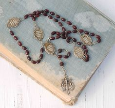 Vintage Wood Beaded Rosary