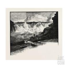 Ottawa, Chaudiere Falls, Canada, Nineteenth Century Giclee Print at Art.com