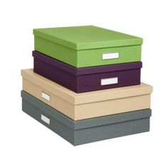 Use these boxes when sorting through your archives to store items that are irregular shapes and sizes. Great for art projects and mementos.