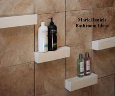 Bathroom Remodeling Design Ideas Tile Shower shelves