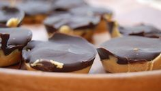 Lighten up your kids' favorite candy with this homemade recipe for peanut butter cups.