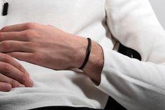 CS 4mm Cuff Bracelet // Matte Black - Men's Cuff Bracelet - MUJO NYC - 2