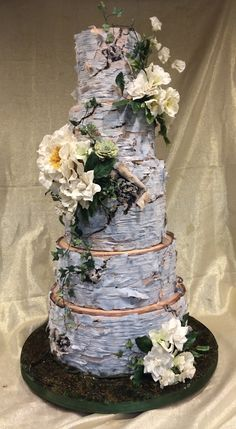 Tutorial With Buttercream Frosting Decorating A Birch Tree