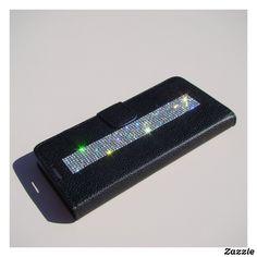 Personalized Leather Wallet, Galaxy Note 5, Black Wallet, Big Fashion, Custom Leather, Groomsman Gifts, Leather Fashion, Diamond Shapes, Crystal Rhinestone
