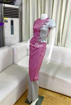 Myanmar Traditional Dress, Traditional Dresses, Lovely Dresses, Dresses For Work, Myanmar Dress Design, Burmese, African Design, Dress Collection, Blouse Designs