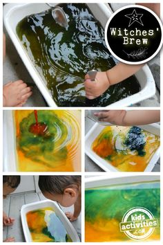 Cackling Fun Witches Brew Color Mixing Activity for Kids | Kids Activities Blog Halloween Crafts For Kids, Halloween Activities, Preschool Activities, Halloween Fun, Science Experiments Kids, Science For Kids, Colored Ice Cubes, Fresh Bowl, Liquid Food Coloring