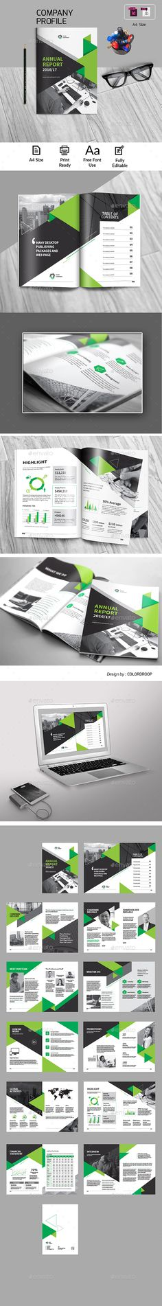 Annual Report Template InDesign INDD - 26 Pages