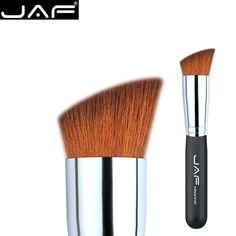 JAF Angled Contour Blush Brush Face Foundation Powder Bronzer Makeup Brush Angular Slanted Flat Top Vegen Hair 16SBYA MIAOQING
