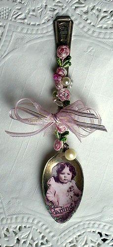 Altered Spoon Ornament. So pretty.