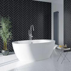 Mode Heath freestanding bath 1700 x 806 Compact Bathroom, Small Bathroom, Family Bathroom, Master Bathroom, Bathroom Tubs, Attic Bathroom, Bath Tubs, Bathroom Renos, Bathroom Interior