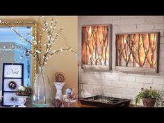 DIY Room Decorating Ideas (DIY Wall Decor, DIY Hacks, DIY Accessories - Decoration landscaping architectural and artistic designs & decoration videos Creative Wall Decor, Creative Walls, Diy Wall Decor, Canvas Light Art, Sisal, Mur Diy, Wooden Crafts, Diy Crafts, Cool Walls