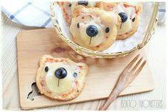 Cuuute Mini Pizzas, Food Art For Kids, Cooking With Kids, Food Kids, Cute Food, Good Food, Yummy Food, Animal Themed Food, Animal Food
