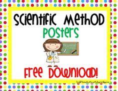Scientific Method Posters...very cute!