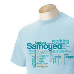 Samoyed Garment Dyed Cotton Tshirt by WryToastDesigns on Etsy, $25.00