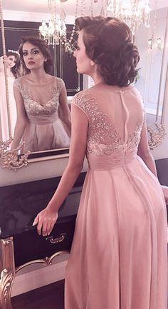 eDressit Cap Sleeves Sheer Top Mother of the Bride Dress
