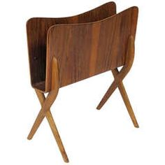 Bent Wood Magazine Rack | From a unique collection of antique and modern magazine racks and stands at https://www.1stdibs.com/furniture/more-furniture-collectibles/magazine-racks-stands/