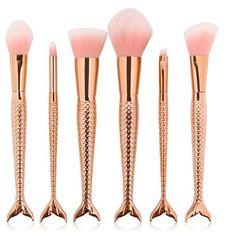 6 Piece Mermaid Makeup Brushes Set - Siren