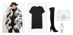 """""""Geen titel #9"""" by fennemcb on Polyvore featuring mode, WithChic, Stuart Weitzman, Monki, Design Inverso en Marc by Marc Jacobs"""