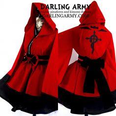 Fullmetal Alchemist Edward Elric Cosplay Skirt Kimono Dress Wa Lolita Accessory | Darling Army
