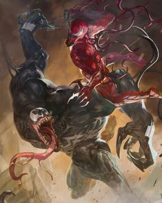 Venom Vol 4 Cover B Variant Sunghan Yune Bring On The Bad Guys Cover (Absolute Carnage Tie-In) Venom Comics, Marvel Venom, Marvel Villains, Marvel Comics Art, Marvel Characters, Marvel Heroes, Marvel Avengers, Marvel Comic Universe, Comics Universe