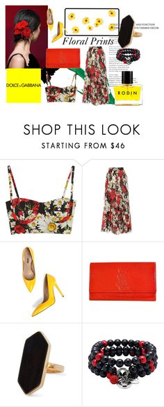 """""""Floral Prints"""" by lionb-tchwardrobe ❤ liked on Polyvore featuring Dolce&Gabbana, Yves Saint Laurent, Jaeger and Rodin"""