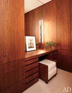 Dressing Room : Amy Gold and Brett Gorvy's Manhattan Apartment by Francis D'Haene : Architectural Digest
