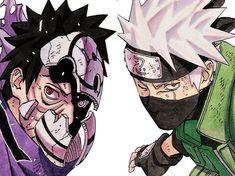 Kakashi e Obito Madara Uchiha, Sasuke, Kakashi And Obito, Naruto Shippuden Anime, Naruto Art, Anime Naruto, Boruto, Sakura Haruno, Manga Anime
