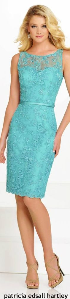 Moda Mom Dress, Dress Skirt, Lace Dress, Lovely Dresses, Elegant Dresses, Short Dresses, Formal Dresses, Turquoise, Special Occasion Dresses