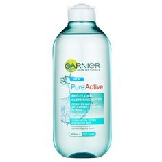 Garnier Pure Micellar Cleansing Water (400ml) (25 PEN) ❤ liked on Polyvore featuring beauty products, skincare, face care, face cleansers, fragrance free face wash, garnier face wash, hypoallergenic face wash and garnier