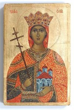 Panel Icons by Marchela II HEROS Fine Art Gallery - Contemporary art, oil paintings, Byzantine style icons Byzantine Icons, Byzantine Art, Religious Icons, Religious Art, Olga Of Kiev, Greek Icons, Russian Orthodox, Art Icon, Orthodox Icons