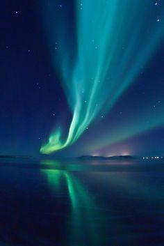 Aurora in south Iceland