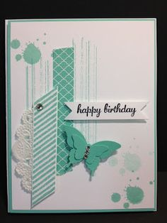 A Gorgeous Grunge Birthday Card Stampin' Up! Rubber Stamping Handmade Cards Stamp Camp Card Make & Take Card Stamp a Stack Card