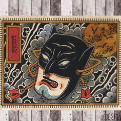 Batman To Noh Made Awesome By @wish_paris  #reclaimthedots #japaneseart…