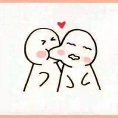 Easy Doodles Drawings, Easy Cartoon Drawings, Love Doodles, Kawaii Doodles, Simple Doodles, Kawaii Drawings, Cute Drawings Of Love, Art Drawings For Kids, Cute Doodle Art