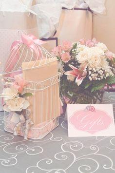 What a beautiful gift table! {Adriana + Raymond's Romantic Vintage Wedding}