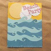 beach themed paper punches | Beach Party - A fabulous beach themed invite created with a personal ...