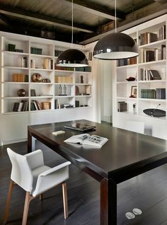 Home Library. Apartment in an old house in the center of Moscow. Interior Work, Office Interior Design, Interior Architecture, Bureau Design, Apartment Renovation, Apartment Design, Studio Apartment, Apartment Ideas, Bookshelves Built In