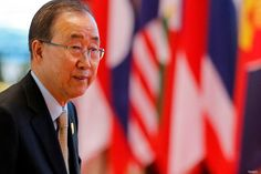 United Nations Secretary General Ban Ki-moon arrives to attend ASEAN Summit in Vientiane, Laos September 8, 2016. Photo: Reuters/Soe Zeya Tun