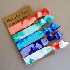 The Ariel Tie Dye Hair Tie Ponytail Holders Collection Tie Dye Hair, Dyed Hair, Tie Headband, Headbands, Trendy Hairstyles, Braided Hairstyles, Tie Dye Party, Aqua, Hair Supplies