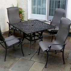 Alfresco Home Hemingway All Weather Wicker 5 Piece Dining Set. Only $1,829.00 FREE Shipping. #PatioFurniture
