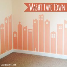 How to Make a Washi Tape Town - Clever Bird Banter shows you how using our Japanese MT Casa 100mm Wide Washi Tape :)
