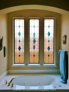 Love This Idea Of Adding Turquoise Stained Gl Windows To My Bathroom