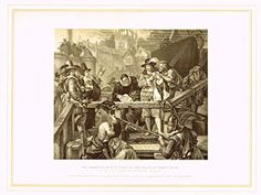 """Archer's Royal Pictures - """"MARQUIS OF MONTROSE AT PLACE OF EXECUTION"""" - Tinted Engraving - 1880"""